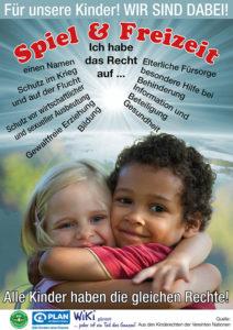 Plakat für Kinderrechte