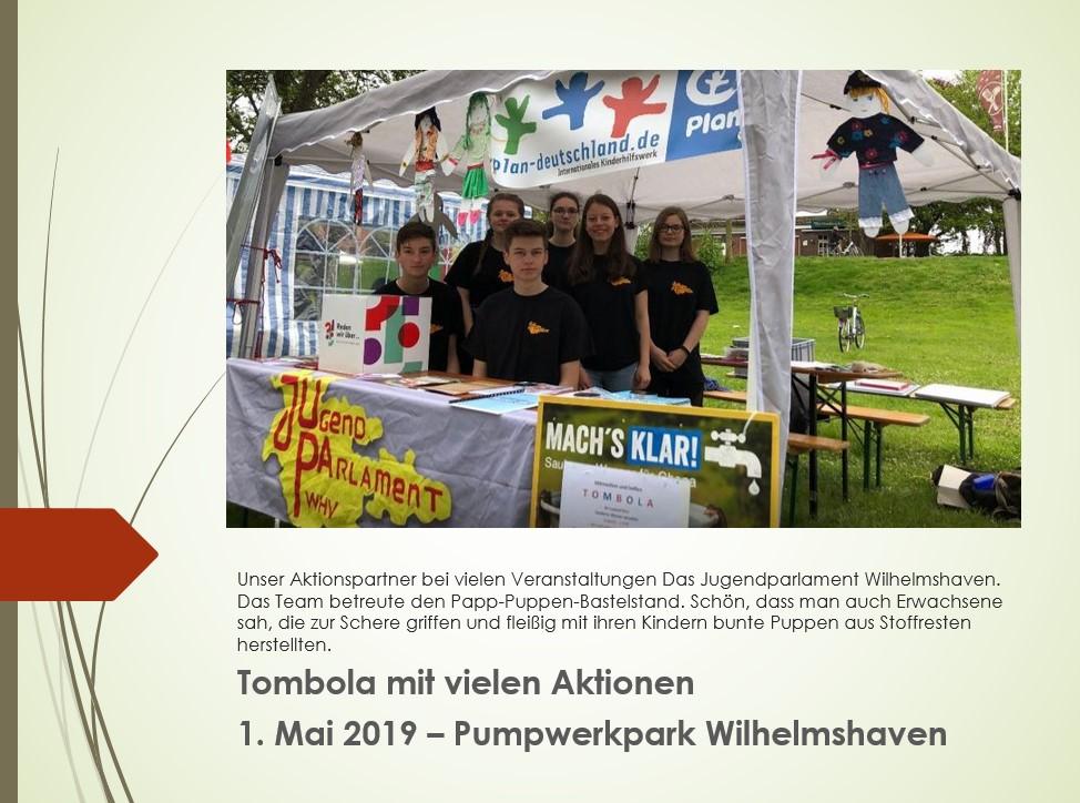 2019 Mai-Veranstaltung im Pumpwerkpark Wilhelmshaven mit großer Mai-Tombola